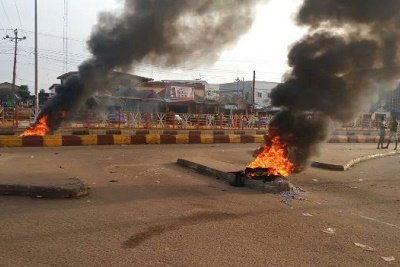 Protest have broken out in Akure over nomination of Jimoh Ibrahim as the PDP candidate in the upcoming Ondo State gubernatorial election in November.