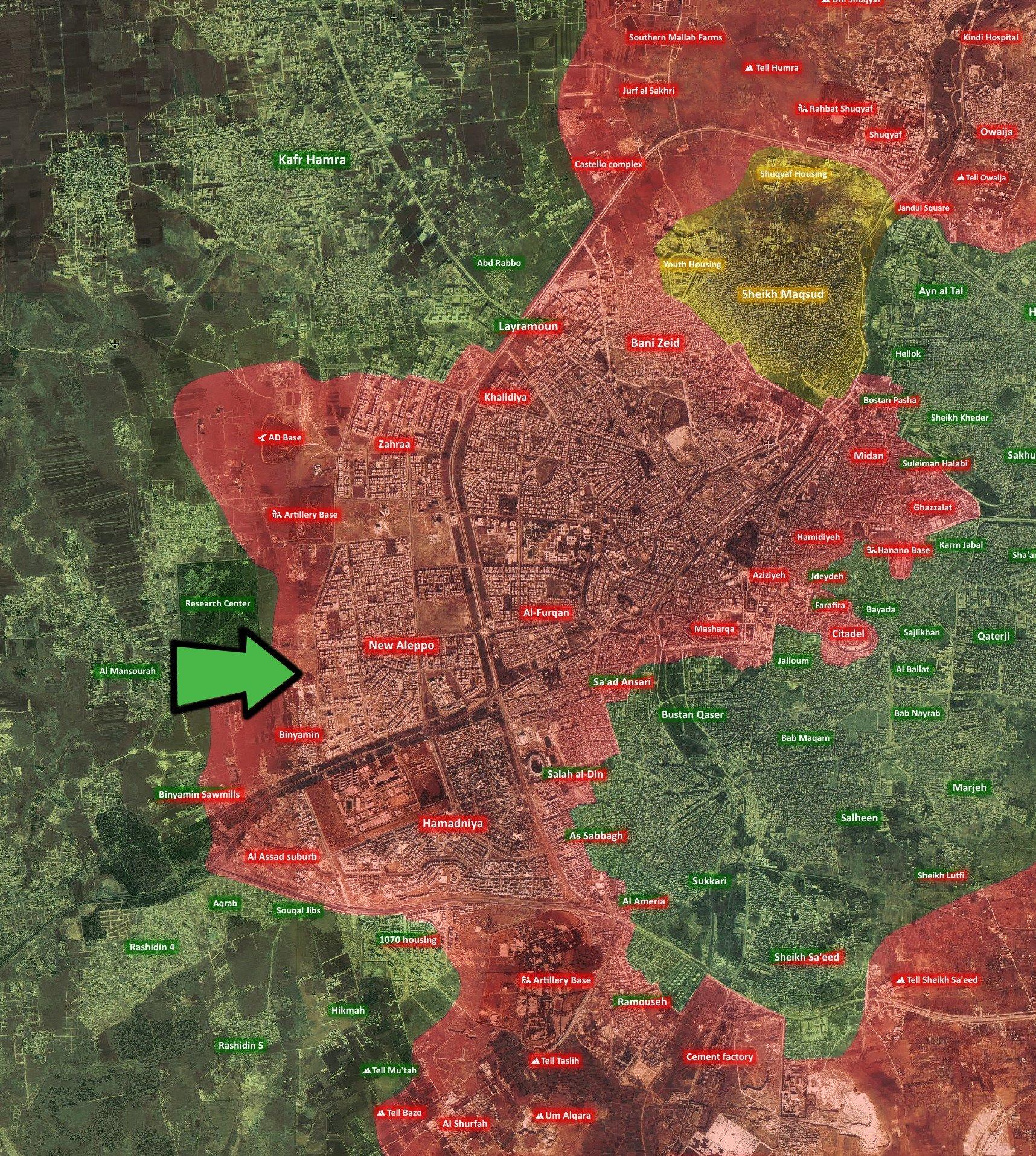 Боевики начала наступление на Алеппо