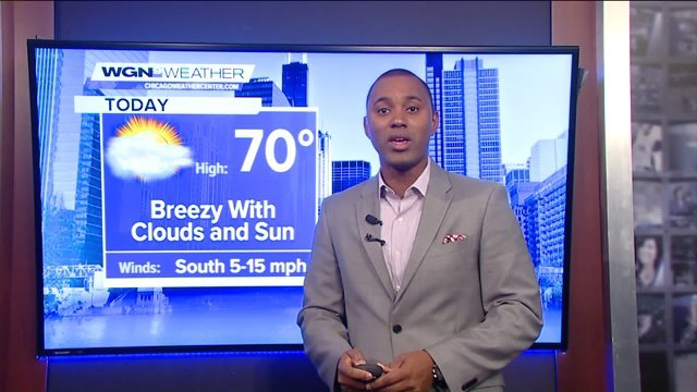 1-minute forecast: Breezy, high of 70
