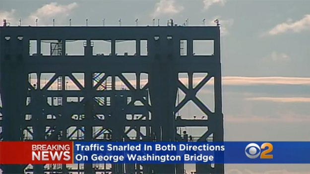 DEVELOPING: Police activity shuts down upper deck of GWB. Here's a live look at the bridge