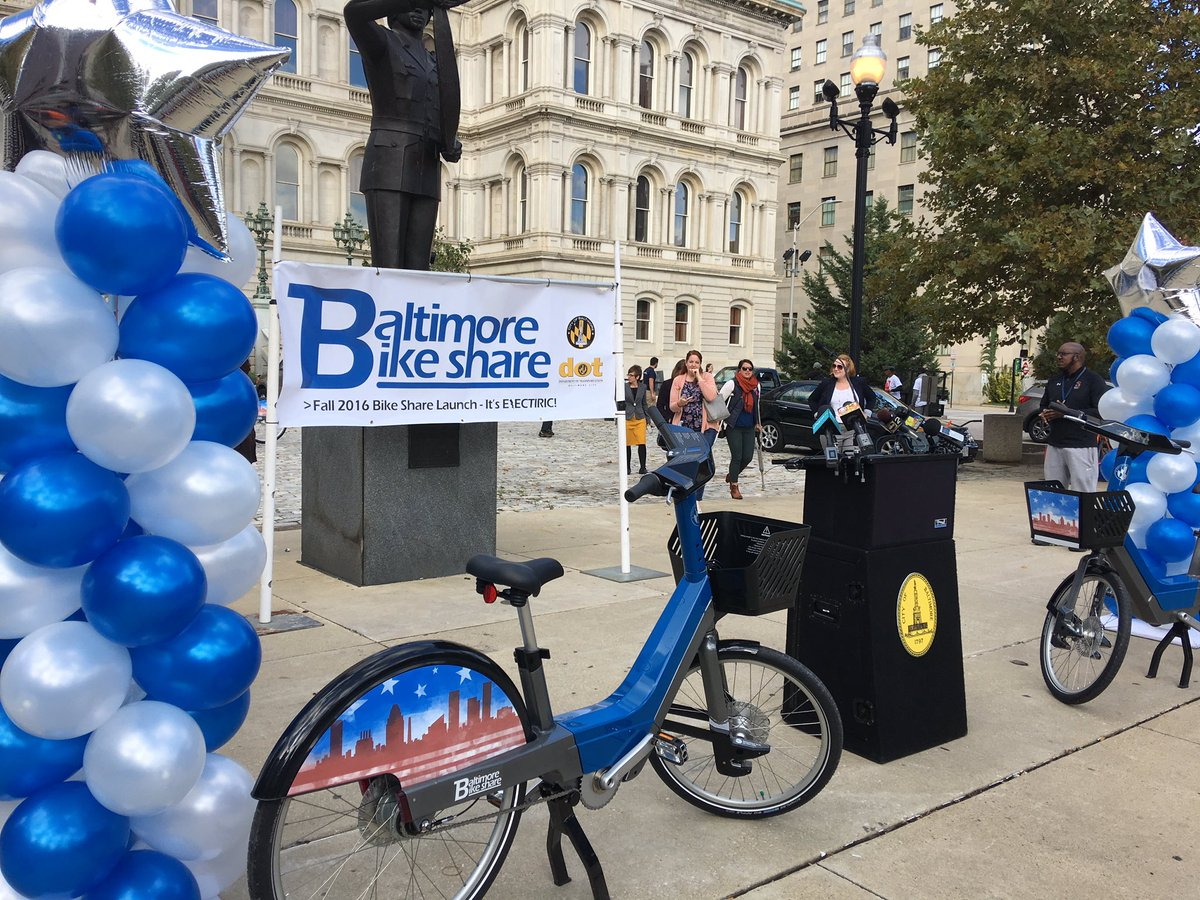 Baltimore Bike Share Launch happening now. Details tonight on FOX45.