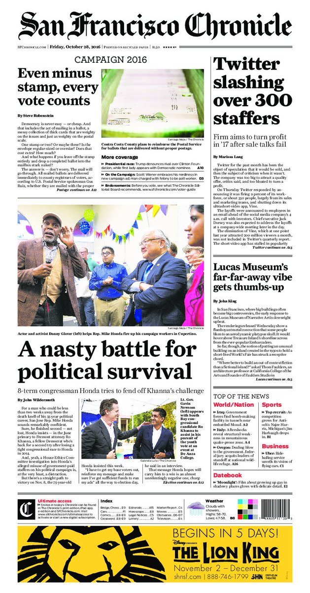 Today's front page: the stories San Francisco is talking about this morning.