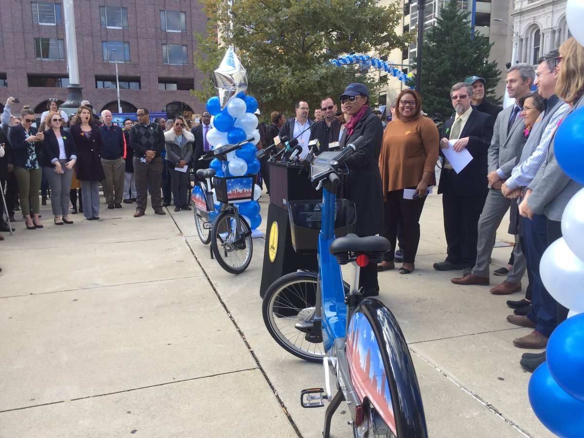 Here's a look at the bikes rolling out today as a part of the city's new bike share program