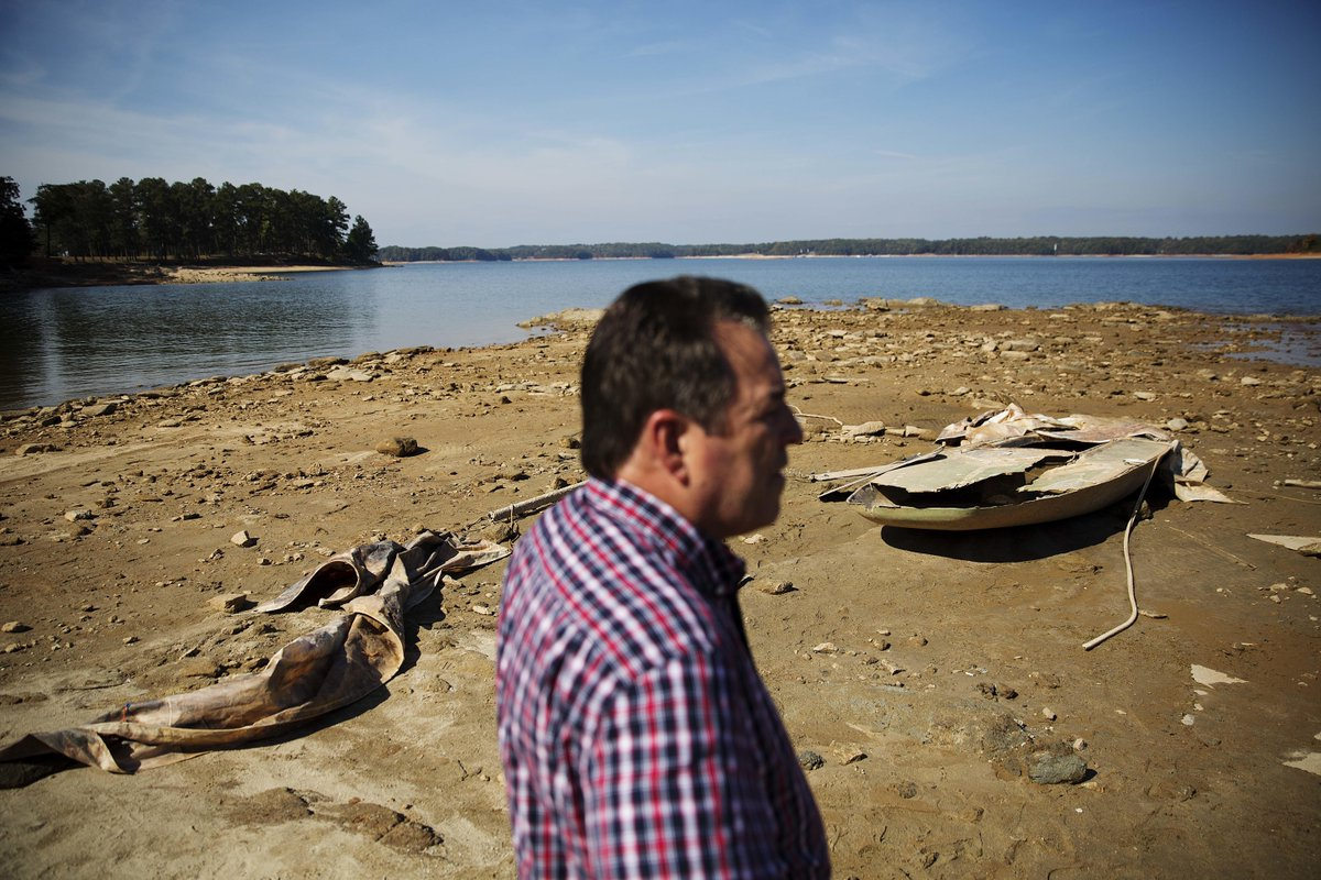 Deep South drought kills crops, dries lakes.