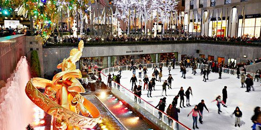 Get discounted tickets for ice skating at Rockefeller Center