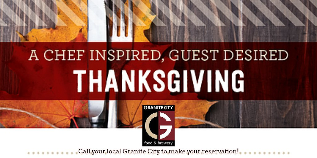 Thanksgiving done easy! 3-course, family style Thanksgiving Dinner! Call your local GCFB to make your reservations! https://t.co/6A3hEuuWJs