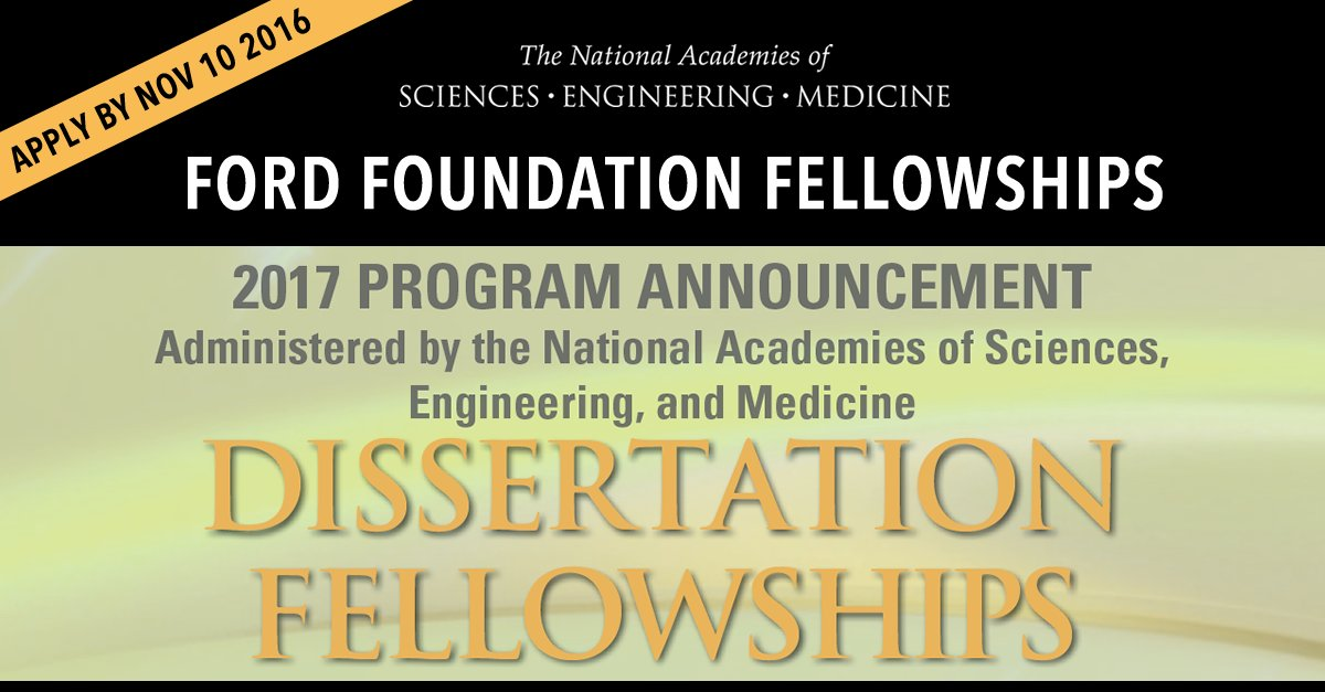 ford foundation dissertation fellowship login