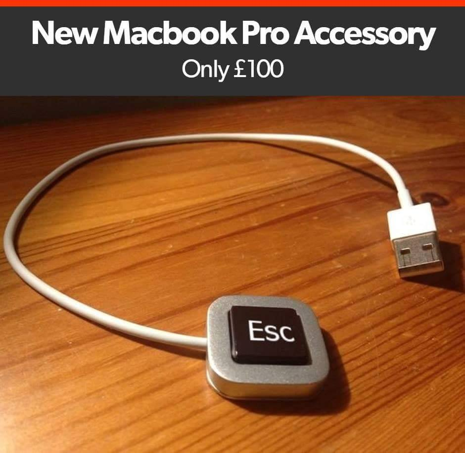#GeekHumor New Macbook Pro Accessory... https://t.co/af3HtHXmbG