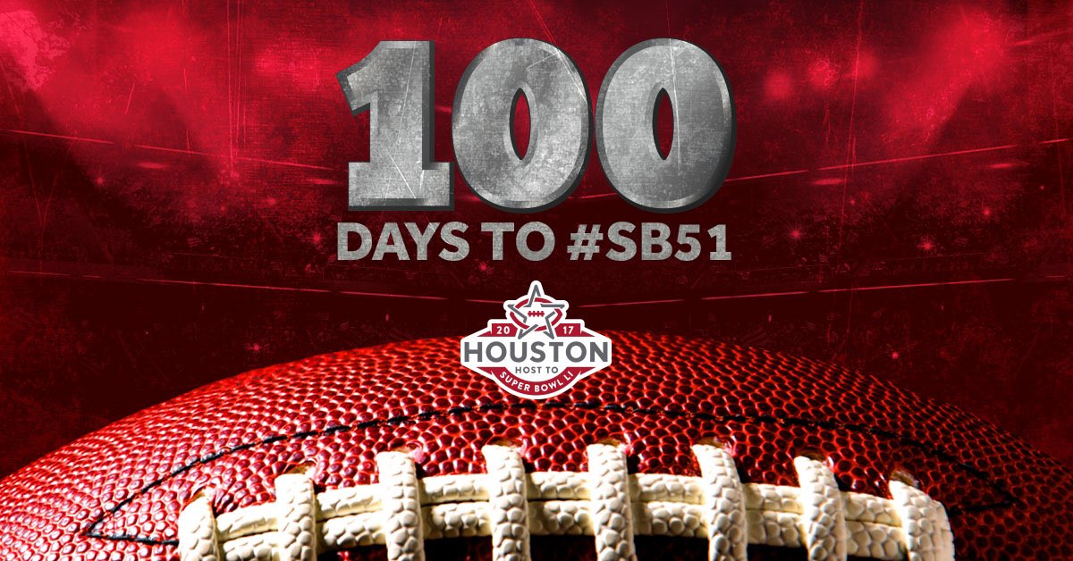 100 days, 2,396 hours, 143,752 minutes until SB51! But who's counting?