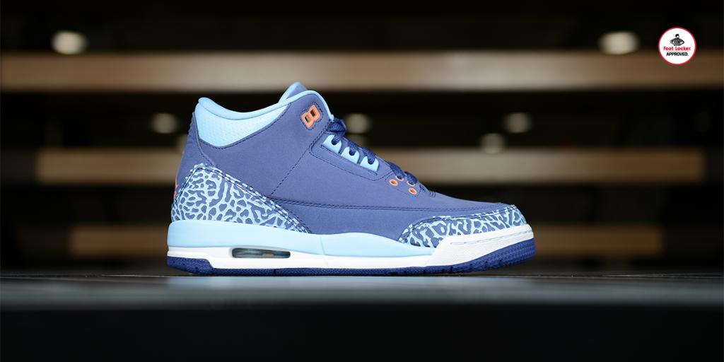 31850f1fbd242d  footlocker 2 years. the grade school air jordan 3 retro purple dust drops  online tomorrow at 10am edt