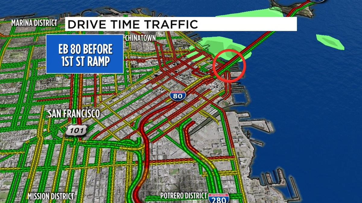 Another update- Essex on ramp to EB 80 has reopened, 1st St ramp should open in about 10 mins; all main lanes open.