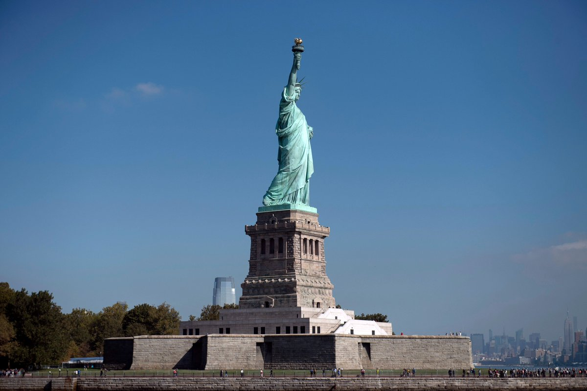For the past 130 years you've stood for freedom, progress, and inclusion – happy birthday Lady Liberty.