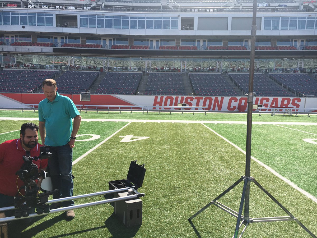 Promo shoot at home of Houston Cougars