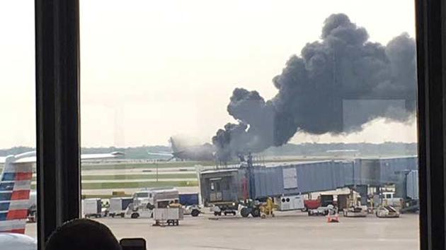 Crews respond to plane fire at O'Hare Airport in Chicago