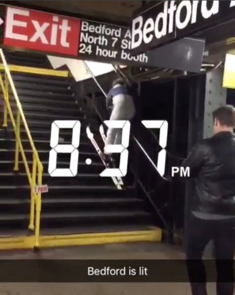 Why Is This Man Climbing The Bedford Avenue Subway Steps In Skis?