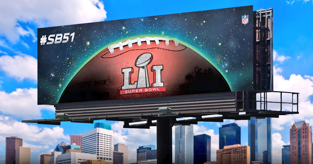 Check out the new SB51 billboards that went up today, in celebration of our  day countdown!