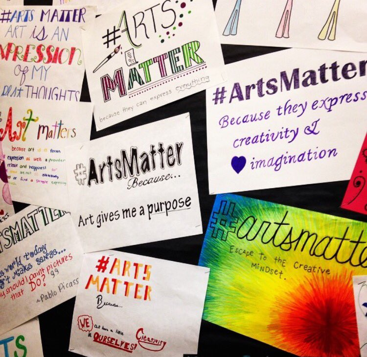 @MassArtEd Oliver Ames High School student expressions of why arts matter to them. Happy #ArtsMatterDay !!! https://t.co/0Xa6VwPCp4