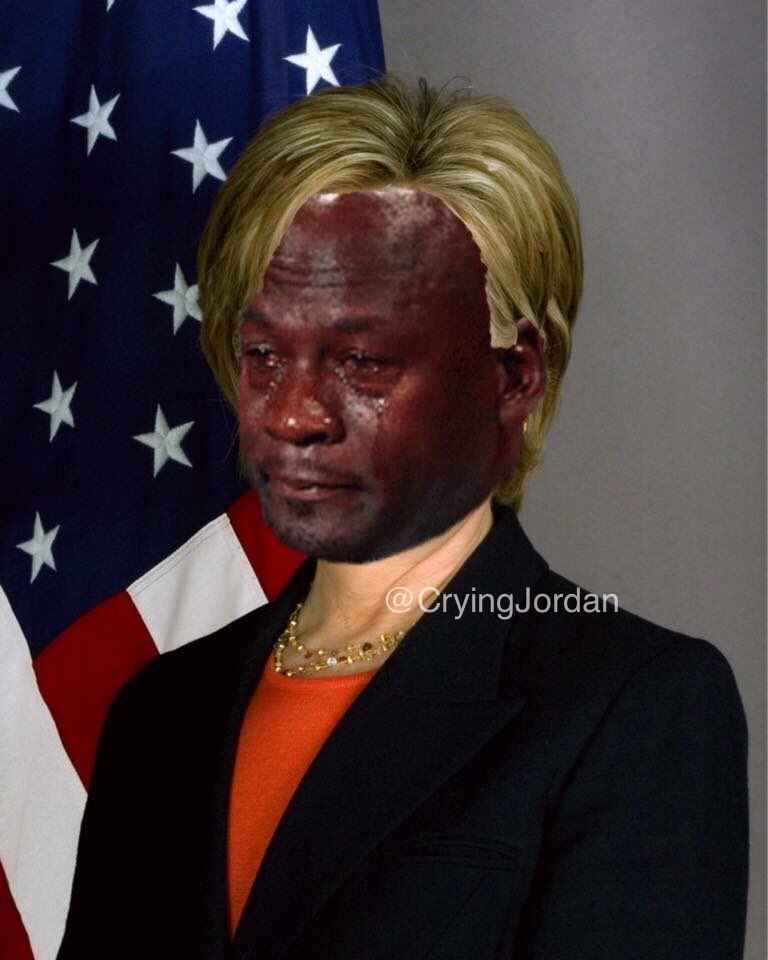 crying jordan on twitter   u0026quot live look at hillary clinton