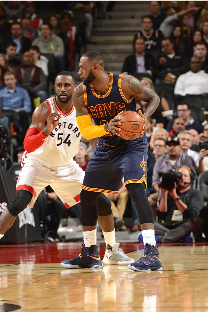 0dc79506242 Cavs Navy   SoleWatch   KingJames wearing a