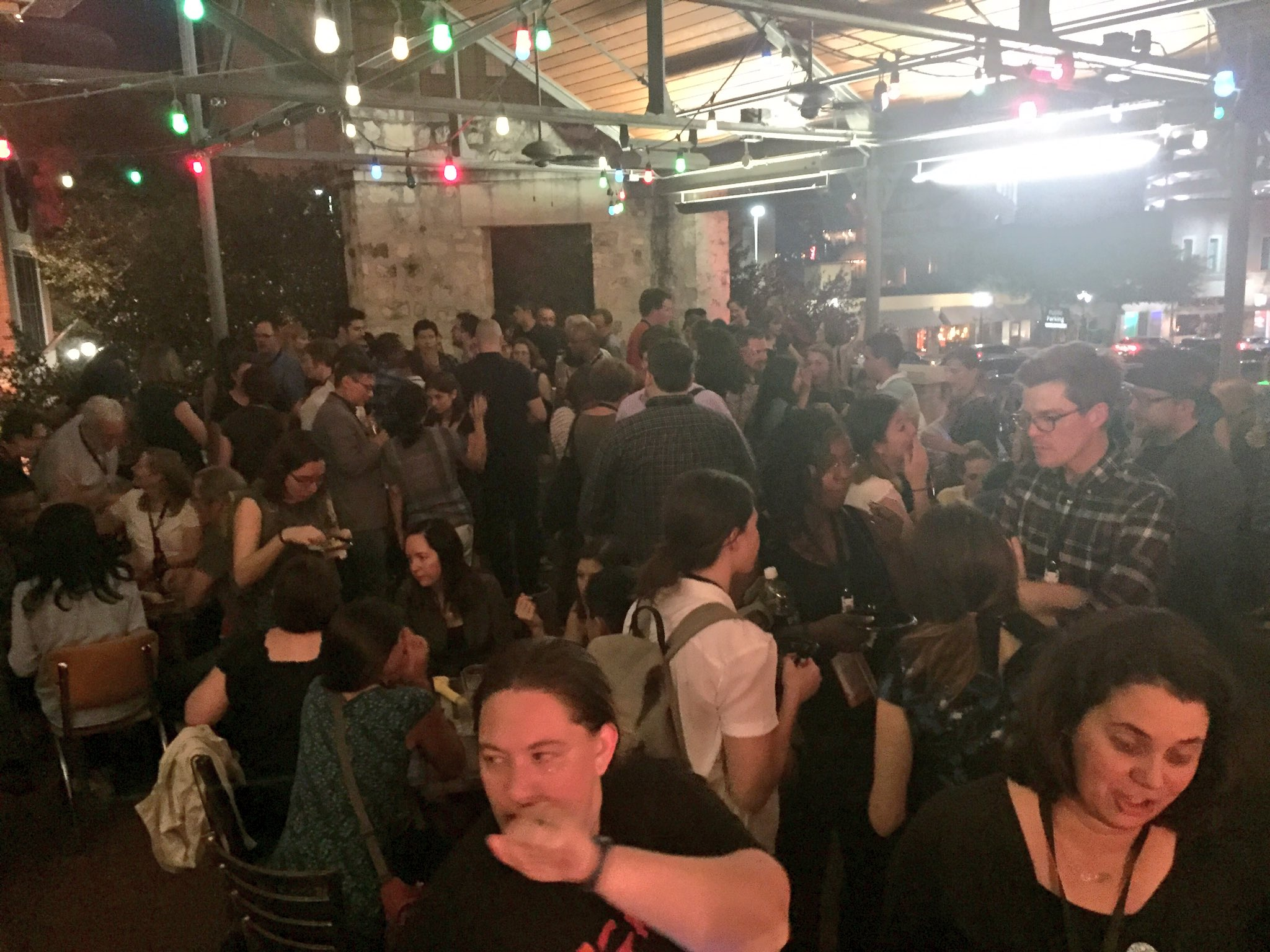 This was the scene at the packed diversity mixer tonight. A HUGE thanks to everyone that attended! #sciwri16 https://t.co/hwapuLPcwp