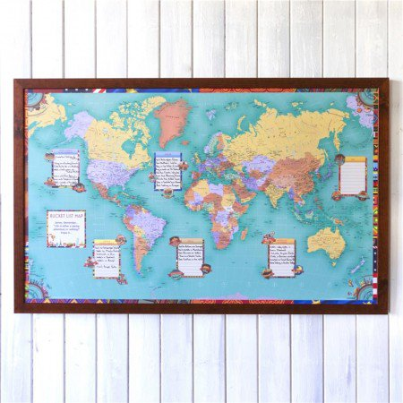 sky mall world map Skymall On Twitter The Framed World Map Is Not Just For Decor