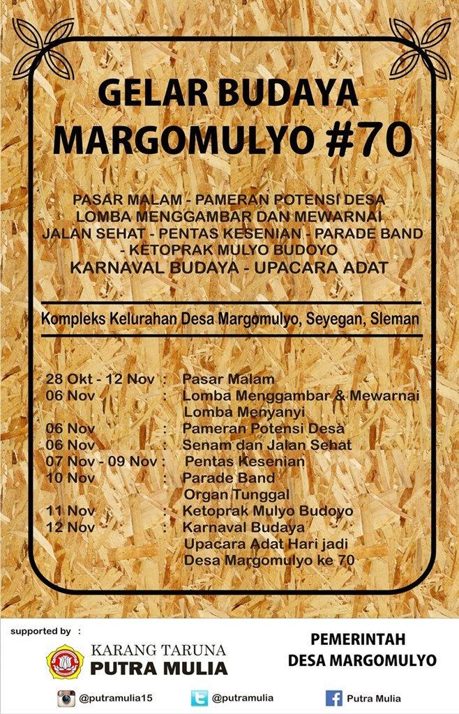 Seyegan On Twitter Gelar Budaya Desa Margomulyo 70 Kompleks