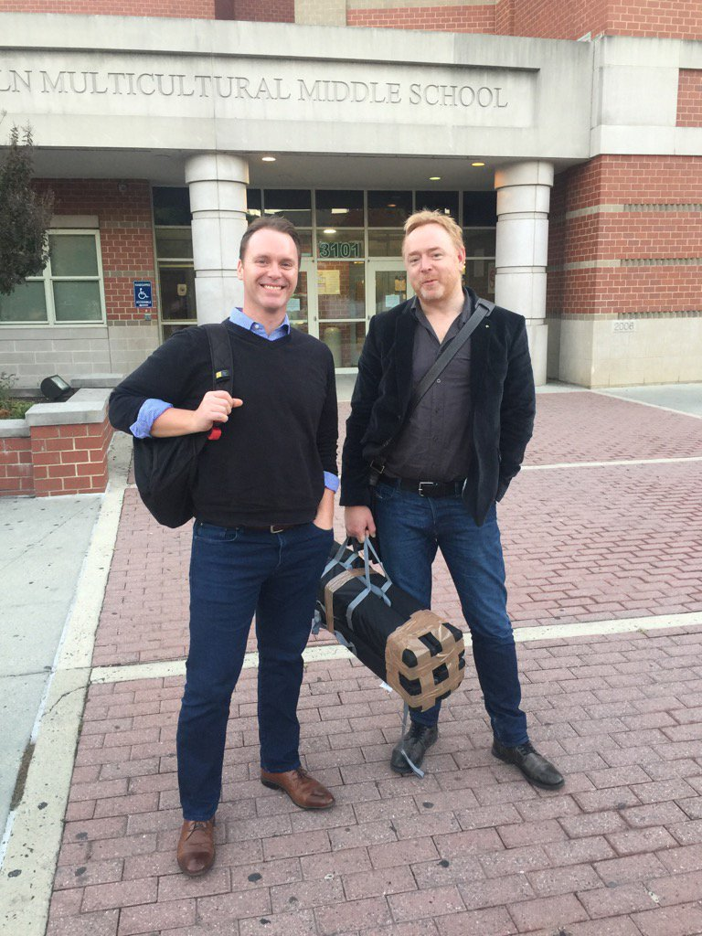 Partners in crime @LearningSpy and @erickalenze arrive at the venue for #rEDWash https://t.co/eViJlwKfHx
