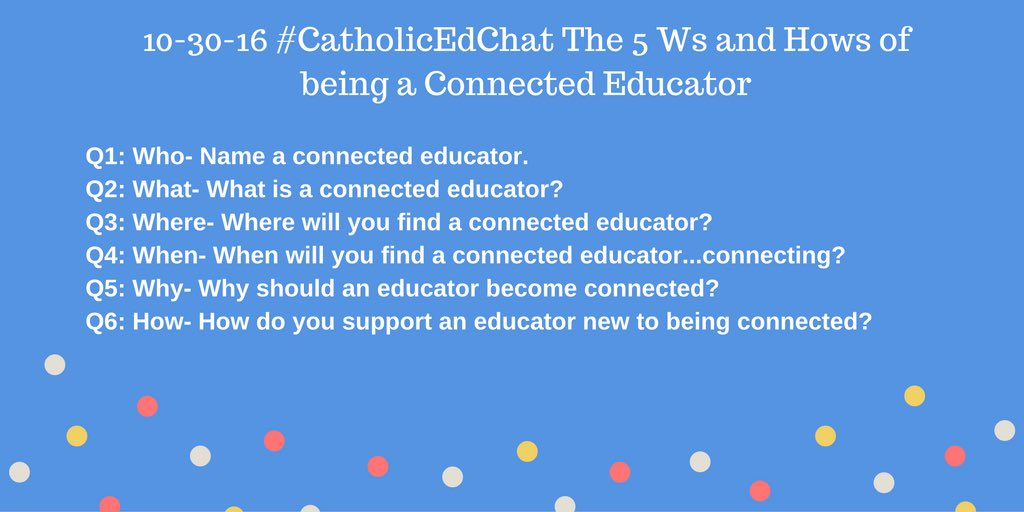 #CatholicEdChat questions https://t.co/pvB6iA9WXc