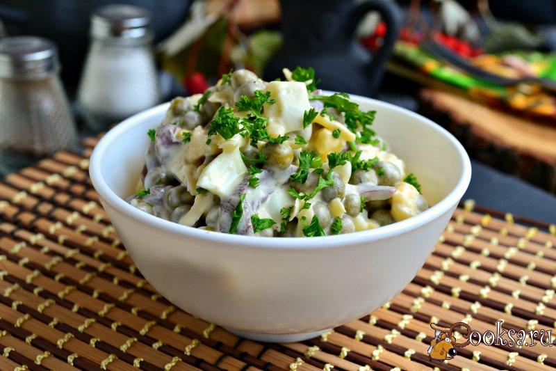 грибной салат с курицей рецепт