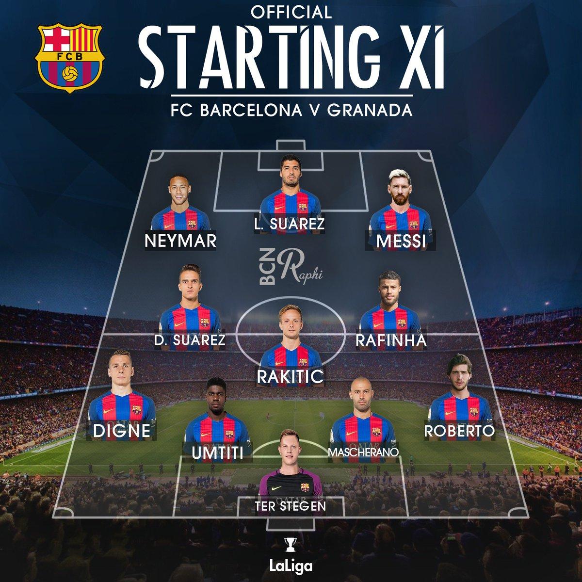 Raphi On Twitter Official Lineup Fc Barcelona Vs Granada Fcbgranada Campnou1500 Fcblive