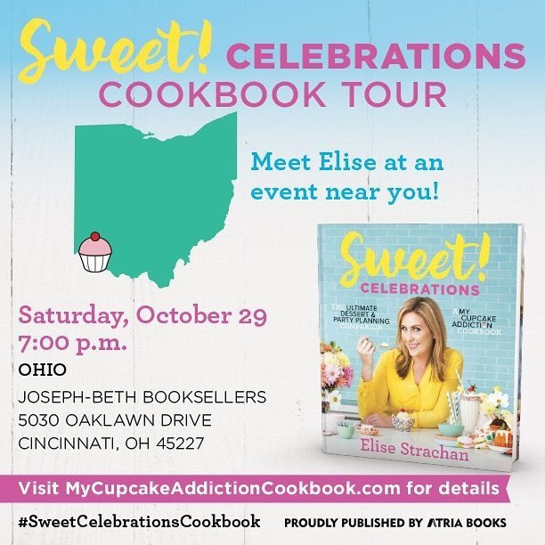 I'm in CINCINNATI tonight talking sweets & signing copies of #sweetcelebrationscookbook - come say Hi! @JosephBethCincy<br>http://pic.twitter.com/r00ViGOerF