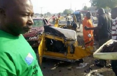 No fewer than nine people were killed in Twin bomb blast by Boko Haram that occurred in early hour of Saturday morning in Maiduguri, Borno State.