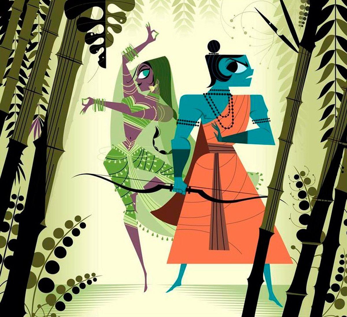 Los protagonistas de la leyenda que da lugar a Diwali son Rama y Sita, protagonistas del Ramayana. Aquí los tenéis. https://t.co/JOlW9yABmd