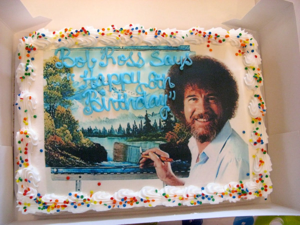 Bob Ross Official On Twitter Happy Birthday Bob Ross Bobrossbirthday Bobross Icon Celebrate And Send Us You Best Painting Favorite Of His Or A Quote You Love Https T Co Caxqfoo91e