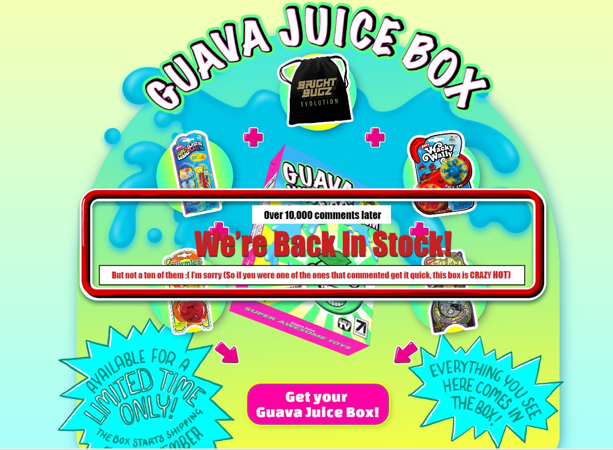 Gava Juice Toy : Guava juice box on twitter quot guavaroi showed your