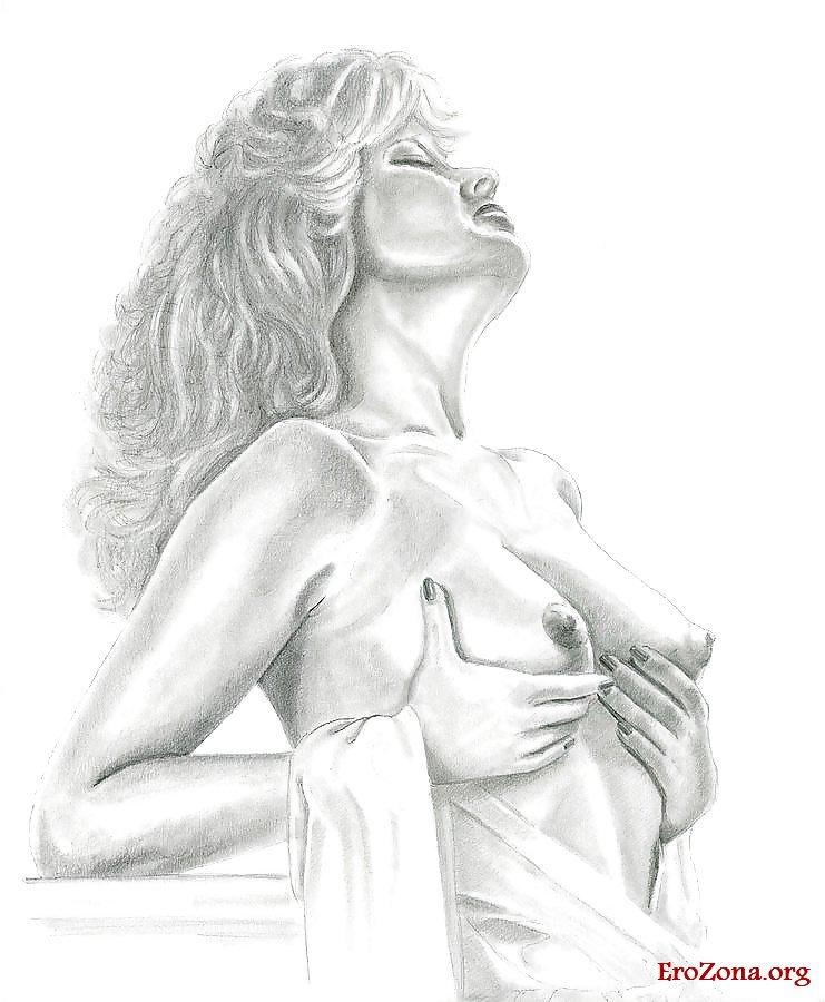 Художественная эротика рисованная