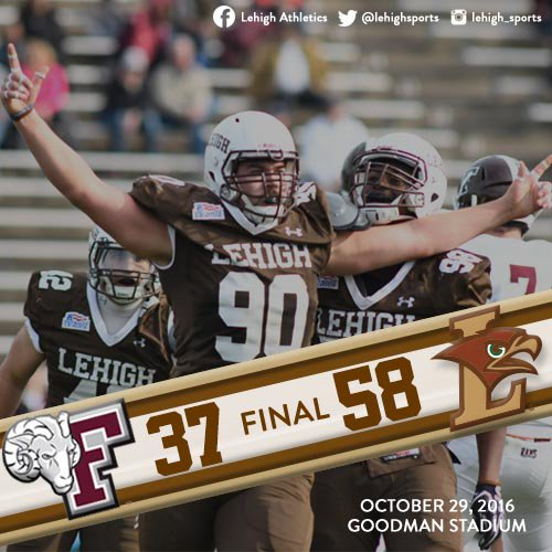 QUICK RECAP: Lehigh Explodes Out of the Gate And Runs Over Fordham, 58-37