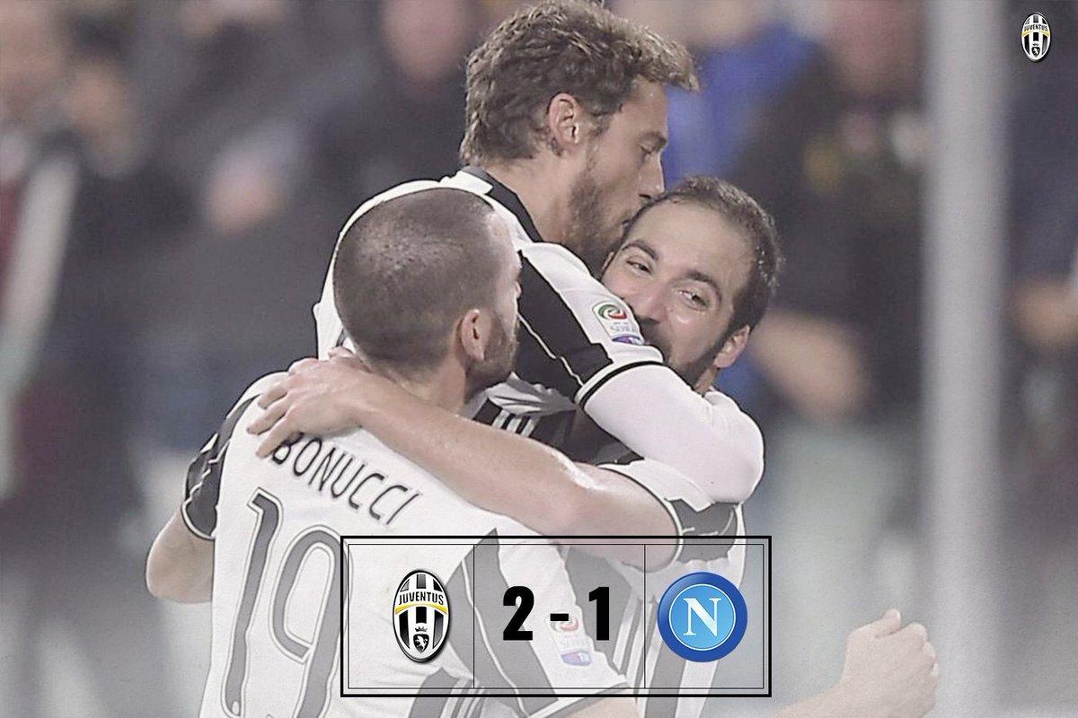 JUVENTUS-NAPOLI Risultato esatto 2-1, gol decisivo di Higuain e Juve a +5 in classifica.