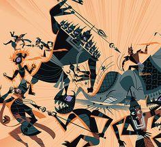 14. Y por supuesto, Ravana se dedica a hacer el mal y a dominar su territorio sabiéndose invencible. https://t.co/izcTJlLT7X