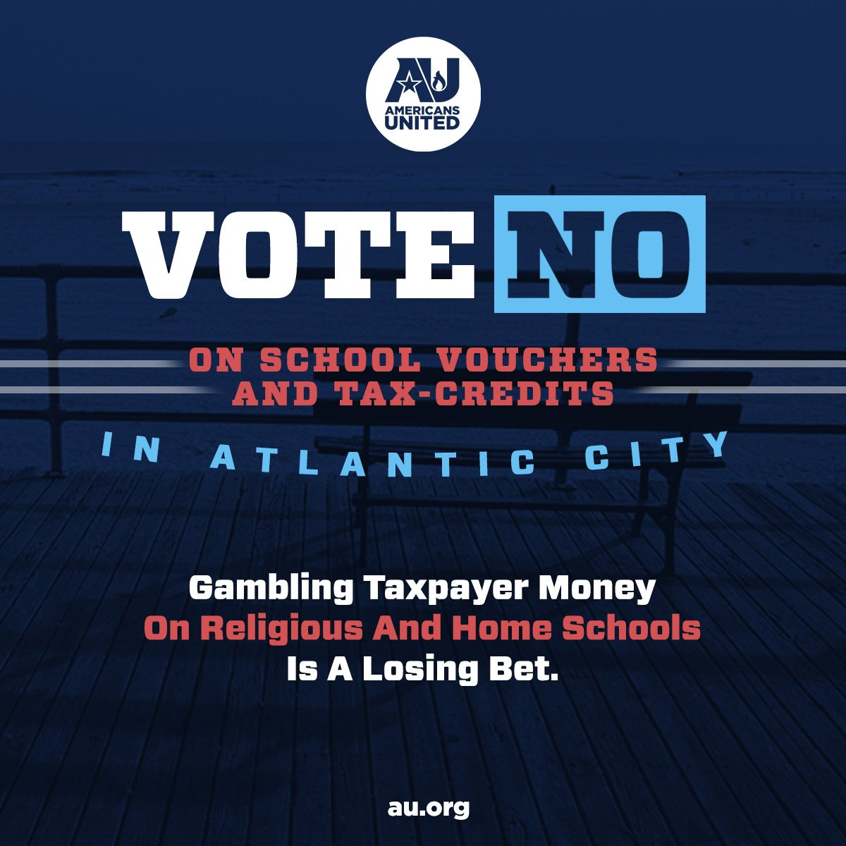 Dont Gamble On Vouchers >> Americans United A Twitter Don T Gamble With Vouchers Atlantic
