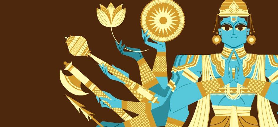 17. Afortunadamente Ravana no pensó en todo, porque sólo hizo ofrendas a dos de los tres dioses. ¡Ha llegado la hora de que Vishnu actúe! https://t.co/VbuHRS0WLw