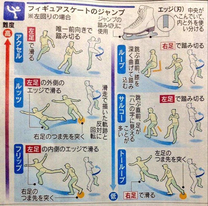 動画で見るスケートのジャンプの見分け方が分りやすい!ただし