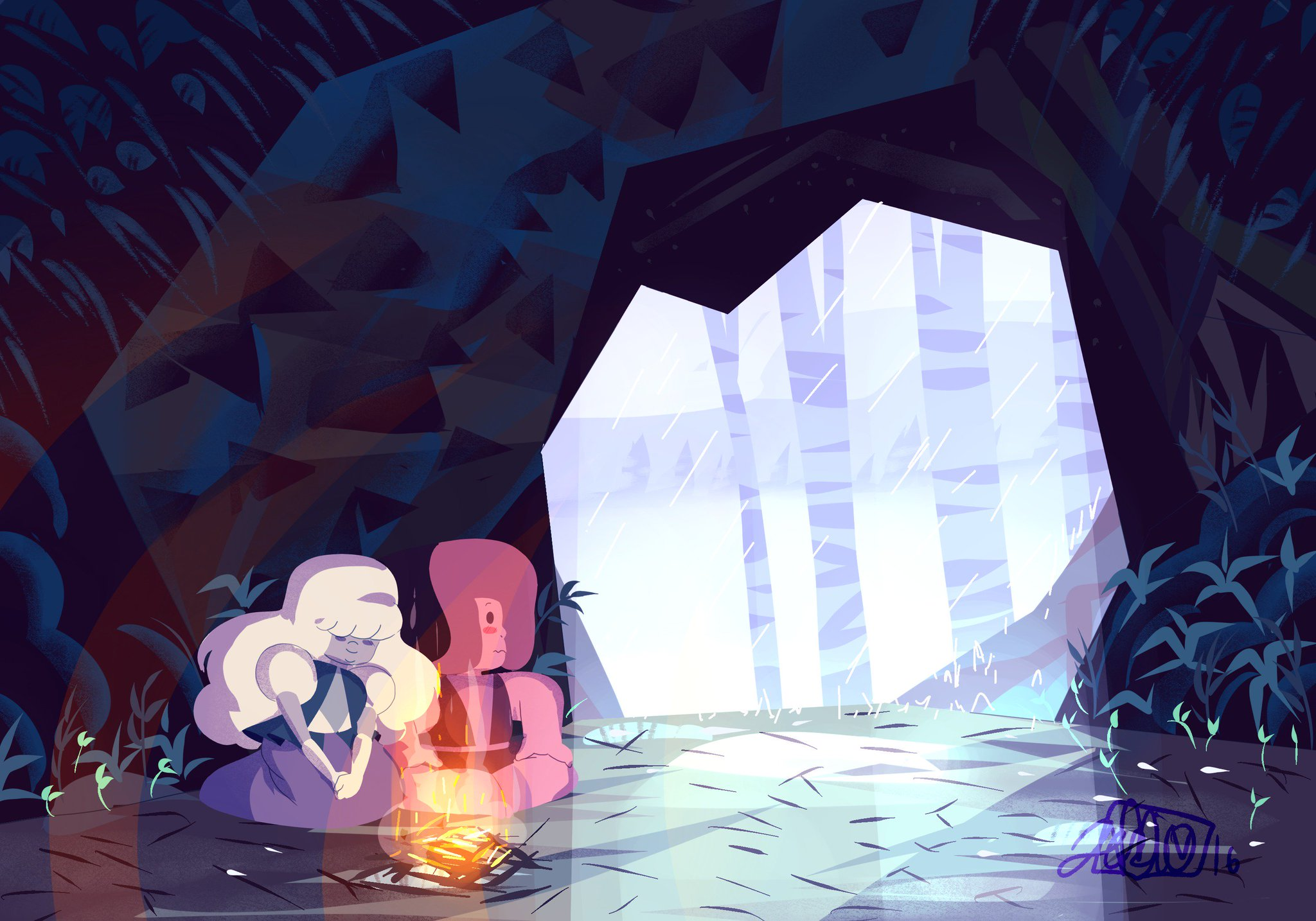 """It's raining where I live sooo <33 #StevenUniverse #rupphire"""