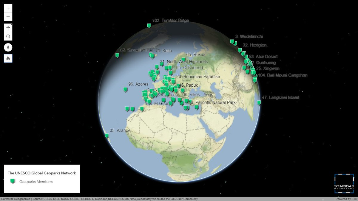 Staridas geography on twitter the unesco global geoparks network staridas geography on twitter the unesco global geoparks network 3d web app httpst2r3mse6kih esri arcgis api javascript webgis world map gumiabroncs Image collections