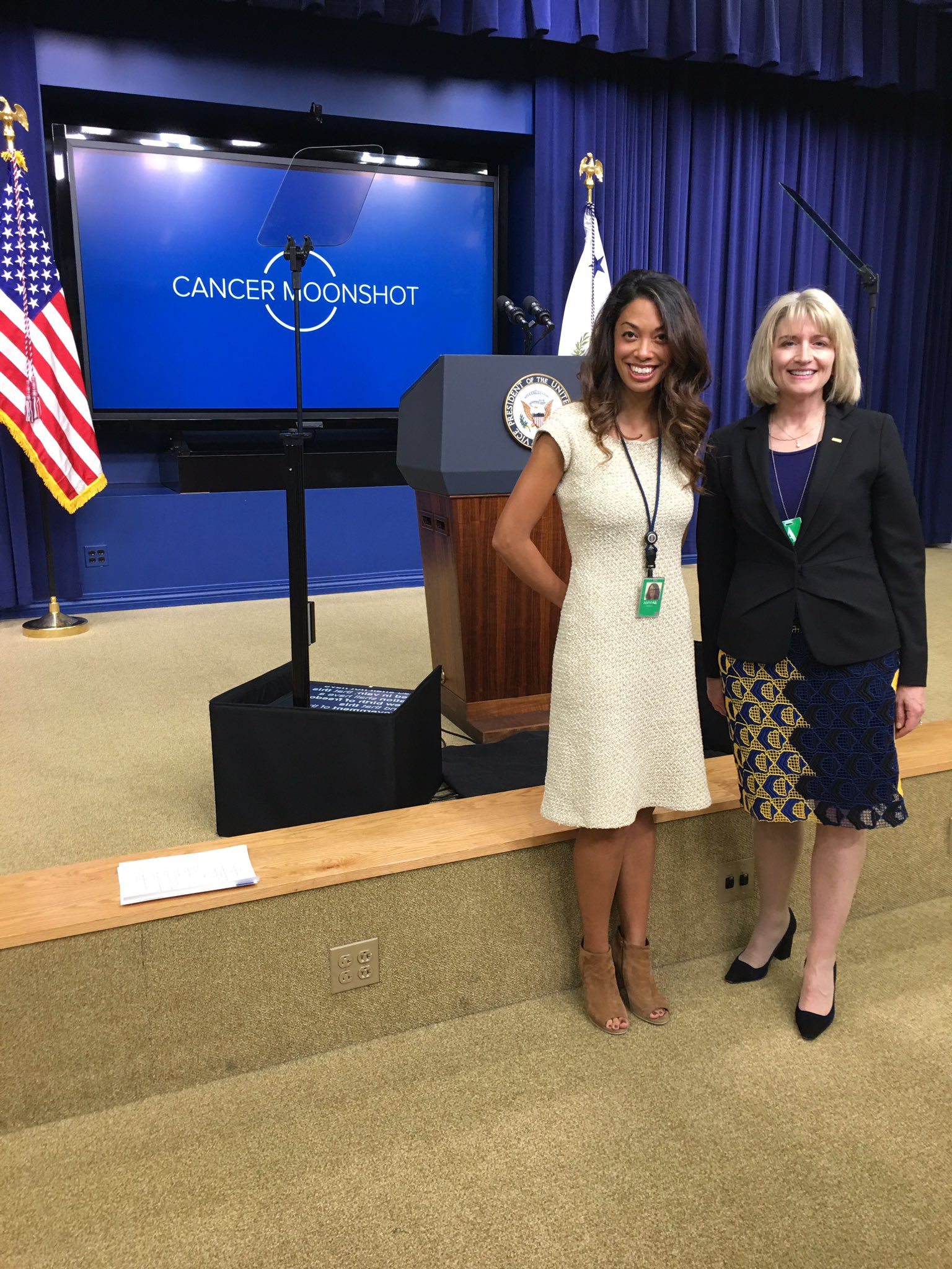 With Anabella Aspiras at #cancermoonshot-great meeting! Looking forward to sharing at #ACCCNOC https://t.co/Q8JW3m1BRH