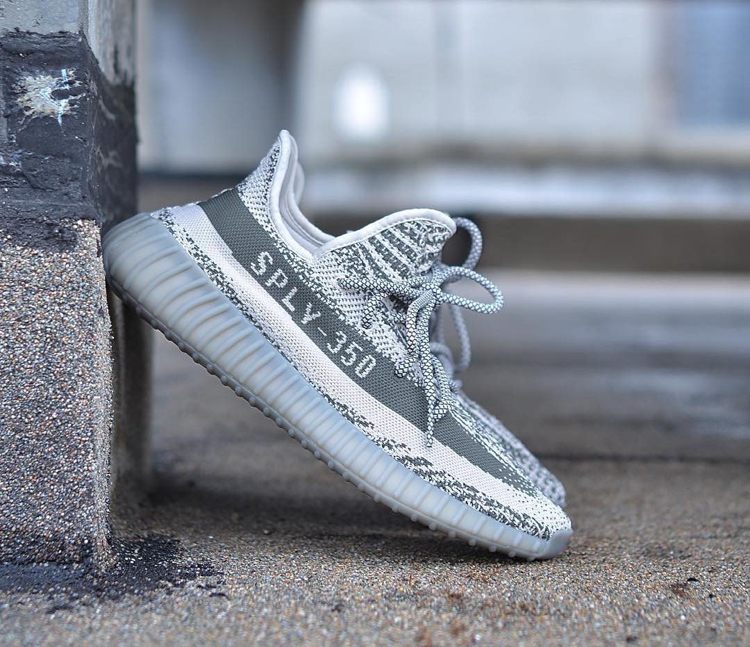 Women's Fashion Adidas Yeezy Boost 350 V2 In White And Light Blue