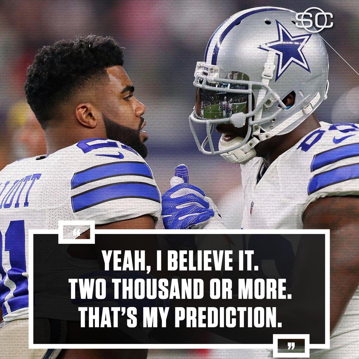 2,000+ Rush yds for Zeke this season? Dez thinks so. (via Fort Worth Star-Telegram)