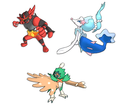Pokemon Sun and Moon Starter Final Evo