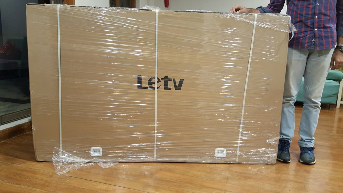 It's a fab morning when you wake up to find a 'wow' gift..a #LeEco 65inch...