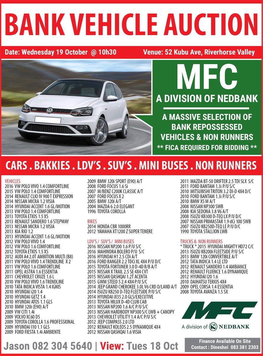 Repossessed Car Auctions In Durban